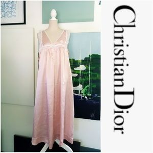 DIOR PINK VINTAGE NIGHTGOWN SILK & LACE